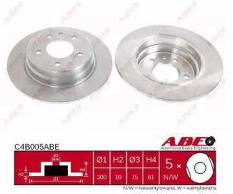 Тормозной диск на БМВ 5 'ABE C4B005ABE'.