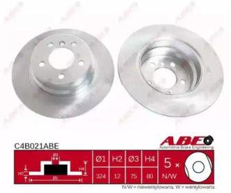 Тормозной диск на БМВ Х5 'ABE C4B021ABE'.