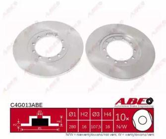 Тормозной диск на Форд Транзит Турнео 'ABE C4G013ABE'.