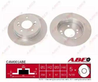 Тормозной диск на SUBARU LEGACY 'ABE C4M001ABE'.