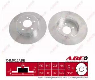 Тормозной диск на Мерседес СЛ 'ABE C4M011ABE'.