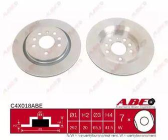 Вентилируемый тормозной диск на Сааб 9-3 'ABE C4X018ABE'.