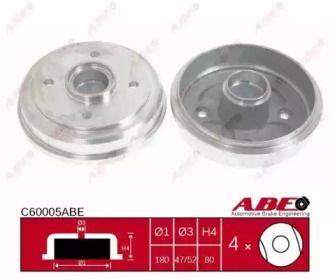 Тормозной барабан на CHEVROLET SPARK 'ABE C60005ABE'.