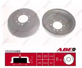 Тормозной барабан на INFINITI QX4 'ABE C61033ABE'.