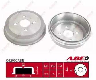 Задний тормозной барабан 'ABE C62007ABE'.