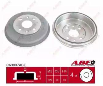 Тормозной барабан 'ABE C63007ABE'.