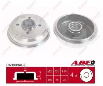 Задний тормозной барабан на Форд Фиеста 'ABE C63009ABE'.