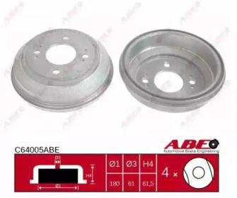Задній гальмівний барабан 'ABE C64005ABE'.