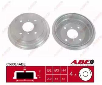 Тормозной барабан на SUBARU JUSTY 'ABE C68014ABE'.