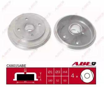 Тормозной барабан на OPEL AGILA 'ABE C68015ABE'.