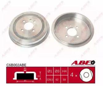 Задний тормозной барабан на БМВ 3 'ABE C6B002ABE'.