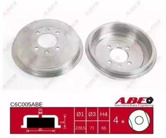 Задний тормозной барабан на CITROEN ZX ABE C6C005ABE.