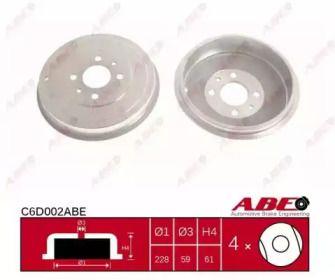 Задний тормозной барабан на Альфа Ромео 146 'ABE C6D002ABE'.