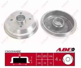 Задний тормозной барабан на FORD KA 'ABE C6G004ABE'.