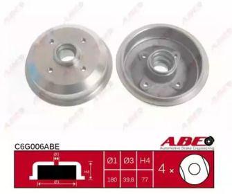 Задний тормозной барабан 'ABE C6G006ABE'.