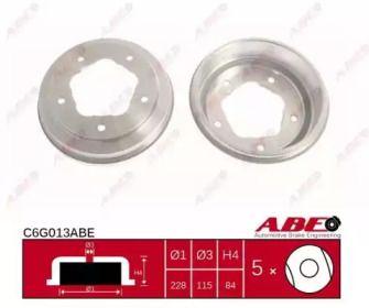 Задний тормозной барабан на FORD TRANSIT 'ABE C6G013ABE'.