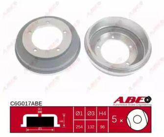 Задний тормозной барабан на Форд Транзит Турнео 'ABE C6G017ABE'.