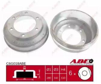 Задний тормозной барабан на Форд Транзит Турнео 'ABE C6G018ABE'.