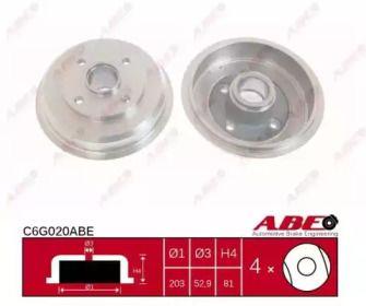 Тормозной барабан на SSANGYONG ACTYON 'ABE C6G020ABE'.