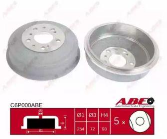 Задний тормозной барабан на Ситроен С25 'ABE C6P000ABE'.