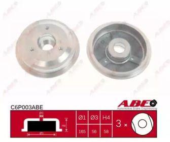 Задний тормозной барабан 'ABE C6P003ABE'.