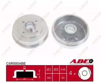 Задний тормозной барабан на RENAULT 9 'ABE C6R000ABE'.