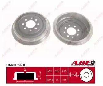 Задний тормозной барабан на RENAULT RAPID 'ABE C6R002ABE'.