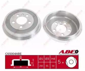 Тормозной барабан на AUDI A2 'ABE C6S004ABE'.