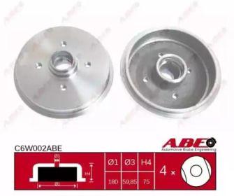 Задний тормозной барабан на SEAT IBIZA 'ABE C6W002ABE'.