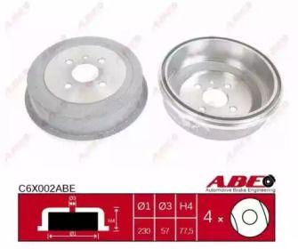 Задний тормозной барабан на OPEL COMBO 'ABE C6X002ABE'.
