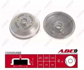 Задний тормозной барабан на OPEL CORSA 'ABE C6X005ABE'.