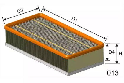 Повітряний фільтр MISFAT P090.