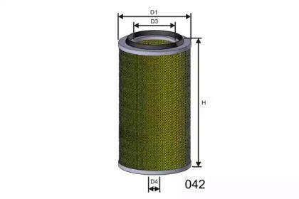 Воздушный фильтр 'MISFAT RM934'.