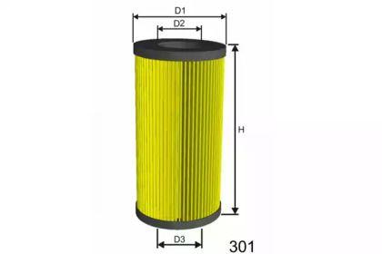 Фильтр топливный дизель на Шкода Октавия А5 'MISFAT F007'.