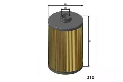 Фильтр топливный дизель 'MISFAT F645'.