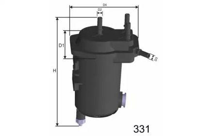 Фільтр паливний дизель 'MISFAT F114A'.