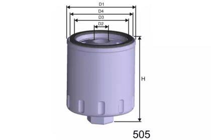 Масляный фильтр на Фольксваген Гольф 'MISFAT Z282'.