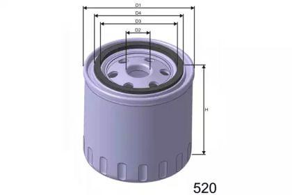 Масляный фильтр 'MISFAT Z166'.
