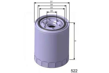 Масляный фильтр на Хендай Туксон 'MISFAT Z461'.