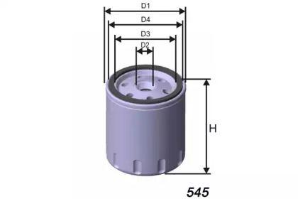 Масляний фільтр на MAZDA CX-9 MISFAT Z440.