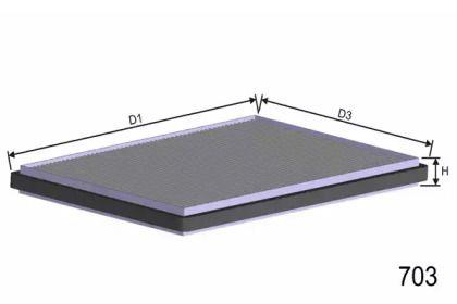 Салонний фільтр 'MISFAT HB162'.
