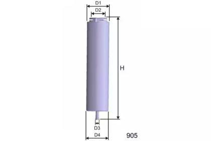 Фильтр топливный дизель 'MISFAT E101'.