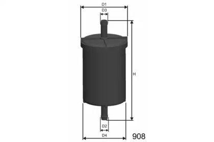 Топливный фильтр на Сеат Леон MISFAT E718.