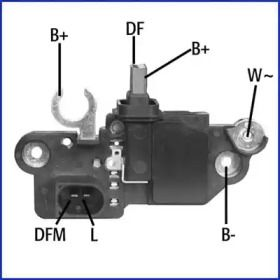 Реле регулятора генератора на Mercedes-Benz W210 HITACHI 130570.