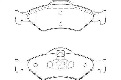 Переднї гальмівні колодки WAGNER WBP23200A.