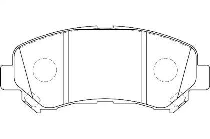 Переднї гальмівні колодки WAGNER WBP24632A.