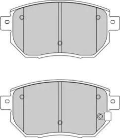 Передние тормозные колодки 'WAGNER WBP24056A'.
