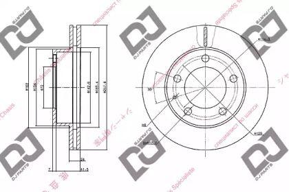 Вентильований передній гальмівний диск на Мазда Кседос 9 'DJ PARTS BD1052'.