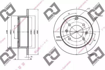 Задний тормозной диск DJ PARTS BD1361.