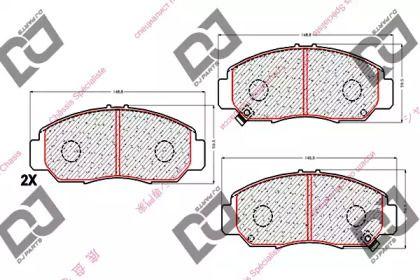 Передние тормозные колодки DJ PARTS BP1761.